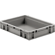 Euro Box Serie EF 4070, aus PP, Inhalt 6,9 L, geschlossene Wände, Unterfassgriff, grau