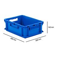 Euro Box Serie EF 4140, aus PP, Inhalt 12,8 L, geschlossene Wände, Durchfassgriff, blau