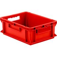 Euro Box Serie EF 4140, aus PP, Inhalt 12,8 L, geschlossene Wände, Durchfassgriff, rot