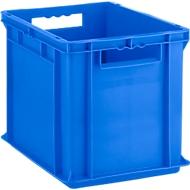 Euro Box Serie EF 4320, aus PP, Inhalt 29,5 L, geschlossene Wände, Durchfassgriff, blau