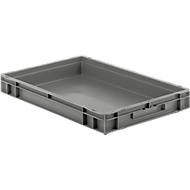 Euro Box Serie EF 6070, aus PP, Inhalt 14,3 L, geschlossene Wände, Unterfassgriff, grau