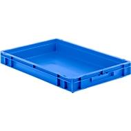 Euro box serie EF 6070, van PP, inhoud 14,3 l, gesloten wanden, greep, blauw