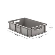 Euro Box Serie EF 6150, aus PP, Inhalt 29,4 L, geschlossene Wände, grau, Durchfassgriff