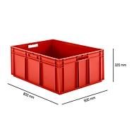 Euro Box Serie EF 8320, aus PP, Inhalt 122 L, geschlossene Wände, rot, Durchfassgriff