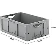 Euro Box Serie LTB 6220, aus PP, Inhalt 41 L, ohne Deckel, grau