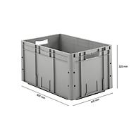 Euro Box Serie LTF 6320, aus PP, Inhalt 62,7 L, Durchfassgriff, grau