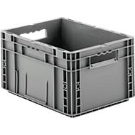 Euro Box Serie MF 4220, aus PP, Inhalt 19,7 L, Durchfassgriff, grau