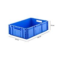 Euro Box Serie MF 6170, aus PP, Inhalt 30,8 L, Durchfassgriff, blau