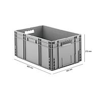 Euro Box Serie MF 6270, aus PP, Inhalt 52 L, Durchfassgriff, grau