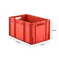 Euro Box Serie MF 6320, aus PP, Inhalt 62,3 L, Durchfassgriff, rot