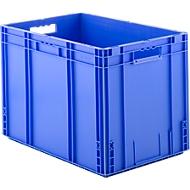 Euro Box Serie MF 6420, aus PP, Inhalt 82,9 L, Durchfassgriff, blau