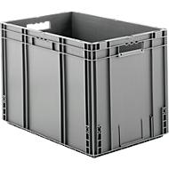 Euro Box Serie MF 6420, aus PP, Inhalt 82,9 L, Durchfassgriff, grau