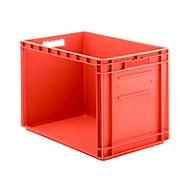 Euro-Fix bak, rood, Euro-Fix bak tablo´fix, 100 liter,  L 600 x B 400 x H 420 mm, niet geleidend, rood