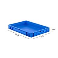 Eurobox serie EF 6070, van PP, inhoud 14,3 l, gesloten wanden, gesloten handgreep,  blauw