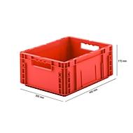 Eurobox serie MF 4170, van PP, inhoud 14,6 l, open handgreep, rood