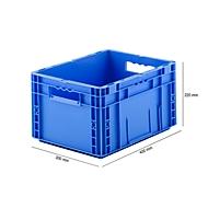 Eurobox serie MF 4220, van PP, inhoud 19,7 l, open handgreep, blauw