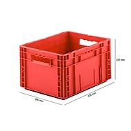 Eurobox serie MF 4220, van PP, inhoud 19,7 l, open handgreep, rood