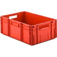 Eurobox serie MF 6220, van PP, inhoud 41,6 l, open handgreep, rood