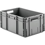 Eurobox serie MF 6270, van PP, inhoud 52 l, open handgreep, grijs