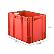 Eurobox serie MF 6420, van PP, inhoud 82,9 l, open handgreep, rood