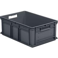 Eurobox SSI Schäfer EF 6220, gesloten, polypropeen, B 600 x D 400 x H 220 mm, 43,5 l