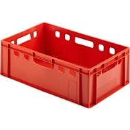 Eurobox vleesbak, geschikt voor levensmiddelen, inhoud 35,3 l, gesloten uitvoering, rood