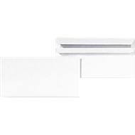 EuroKuvert witte enveloppen 125 x 235 mm (DL Compact), 80 g/m², zonder venster, zelfklevend ,1000 stuks