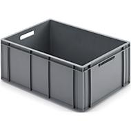 Euronorm bak, geschikt voor levensmiddelen, 55 l, gesloten, grijs