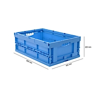 Euronorm plooibox 6422 NG, zonder deksel, voor magazijngebruik en meervoudig transport, 41,4 liter, blauw