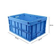 Euronorm plooibox 8645,, zonder deksel, voor magazijn- en multitransport, blauw