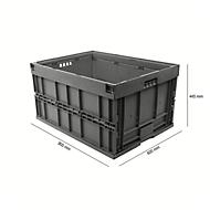 Euronorm plooibox 8645, zonder deksel, voor magazijn- en multitransport, grijs