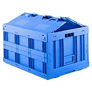 Euronorm plooibox FK 8450, met deksel, 173 l, blauw