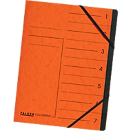 Exacompta Dokumentenmappe, DIN A4, Gummizugverschluss, Karton, 12 Fächer, orange