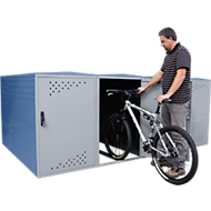 Extension avec cloison latérale pour garage à vélos BikeBox 1 B avec toit bombé