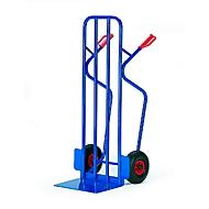 Extra brede steekwagen, draagvermogen 250 kg, luchtbanden