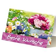 Extraknick-Glückwunschkarte Blumen, mit 3D-Effekt, mit Umschlag