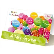 Extraknick-Glückwunschkarte Luftballons, mit 3D-Effekt, mit Umschlag