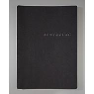 F3 Bewerbungsmappen mit Prägung, DIN A4-Format, Karton, Kapazität 20 Blatt, schwarz