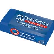 Faber-Castell gum Dust-free, voor tekening en grafiek, blauw
