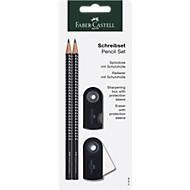 FABER-CASTELL Schreibset GRIP SPARKLE, schwarz