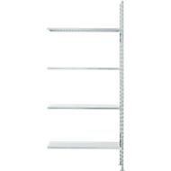 Fachbodenregal FBR 2200, Anbauregal, 4 Böden, 1025 x 300 mm