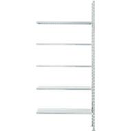 Fachbodenregal FBR 2200, Anbauregal, 5 Böden, 1025 x 300 mm
