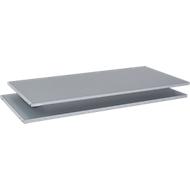 Fachböden für TETRIS SOLID Schiebetürenschr. B 1200 mm/Querrolladenschr. B 800 mm, weißalu, 2 Stück