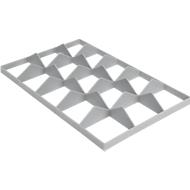 Fachwerkeinsatz FW 1191-1 unten, PE-HD, grau