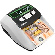 Factuur validatie ratiotec® Soldi Smart Pro, ECB-standaard, EUR/CHF/GBP, 5 talen, net- of batterijvoeding, wit