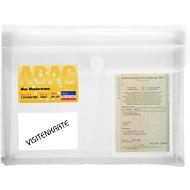 Fahrzeugschein Tasche FolderSys, A5, 3 Taschen, Querfalte, Klettverschluss, Polypropylen transparent, 10 Stück