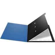 FALKEN Dokumentenmappe, DIN A4, Gummizugverschluss, Karton, 12 Fächer, blau
