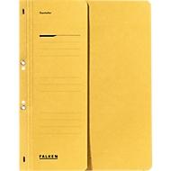 FALKEN Ösenhefter, für DIN-A4, halber Deckel, 1 Stück, gelb