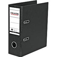 Falken Ordner, DIN A5 hoch, schwarz, Rückenbreite 80 mm