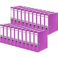 FALKEN Recycolor Ordner, DIN A4, Rückenbreite 80 mm, 20 Stück, lila
